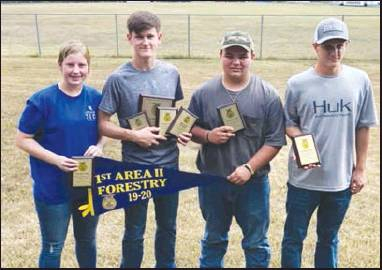 Winn Parish FFA Holds Parish Forestry Contest