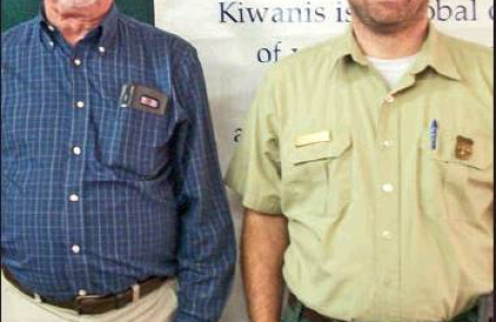US Forest Service Ranger Brad Cooper at Kiwanis Club