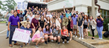 Called to Serve: NSU students deliver hurricane relief supplies to Cut Off