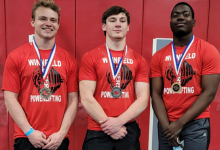 WHS Powerlifting team wins three third places at regionals